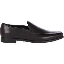 China Giorgio Armani Men's Apron-Toe Venetian Loafers-BLACK Size 12 M on sale