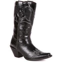 Quality Durango Crush Peek-A-Boot Women's Cowboy Boots, Size: medium (7) , Black for sale