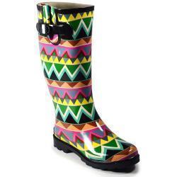 China Corkys Sunshine Women's Rain Boots, Size: 8, Black on sale