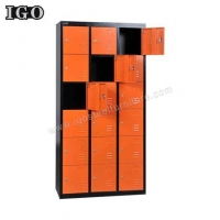 China Metal Locker Hot Sale 18 Doors Metal Storage Locker For Sale on sale