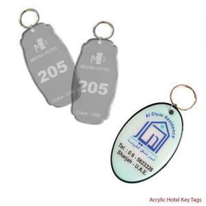 China Promotional Keychains Acrylic Hotel Key Holders on sale