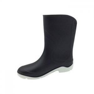 China Cool Women Black Rain Boot Booties on sale