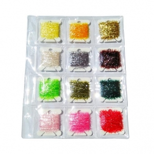 China Fly Tying Ice Cactus Chenille 4 Combinations for Selection 12 Colors for Each Combination with Clear on sale