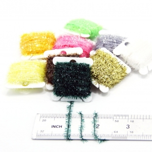 China 9 Cards 90 Meters Ice Chenille Fly Tying Materials Flash Chenille Line Specific 9 Colors on sale