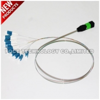 Fiber Optic MPO APC Bare Ribbon Fanout Pigtail with Flat Fanout Kit Cable
