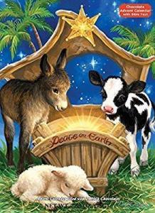 China Peace on Earth Chocolate Advent Calendar (Countdown to Christmas) on sale