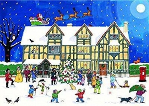 China Alison Gardiner Large Traditional Christmas Advent Calendar - Christmas at the Old Town House on sale