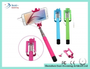 China Z07-6S Stainless Steel Wired Selfie Stick For Smartphones on sale