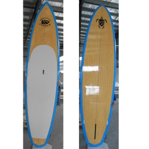 China Bamboo Veneer stand up surfboard paddleboard for wave rider surfing on sale