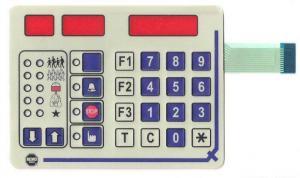 China Waterproof Transparent Red Glossy Windows FPC Circuit Arabic Membrane Keypad on sale
