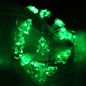 China Christmas Tree led shaped copper string lights on sale