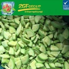 China frozen/IQF light green zucchini slices on sale
