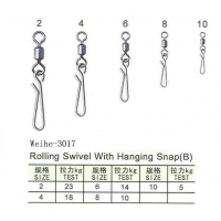 WEIHE-3017 Rolling swivel with hanging snap line clip swivel snap