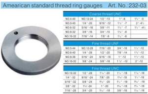 China MEASURING GAUGE Amearican standard thread plug gauges on sale