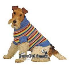 China Dogs Pastel Stripe Sweater - X-Small 8 on sale