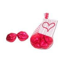 China Promotional Chocolate Foil Wrapped Chocolate Lips in a Net on sale