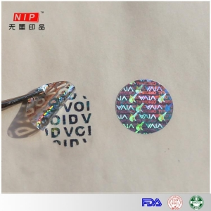 China Customized design Tamper proof stickers with hologram effects on sale