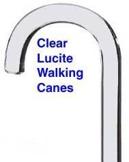 China Lucite Walking Cane on sale