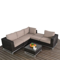 rattan stainless corner sectional set 992