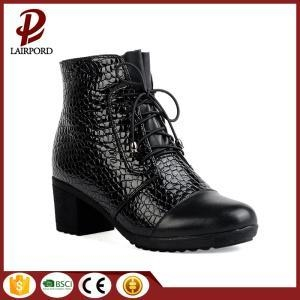 China 5cm genuine leather ankle winter anti-skidding boots on sale
