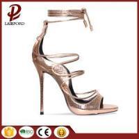 Gold Serpentine elegant high heel women sandals