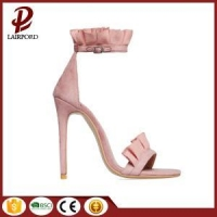 pink lace flower summer sandals for lady