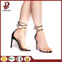 High heel sandals ankle strap woman sandals