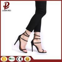 PU lace up high heel sandals 2017