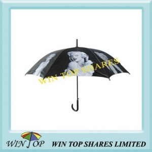 China Promotional and AD Umbrella black and white photograph picture umbrella on sale