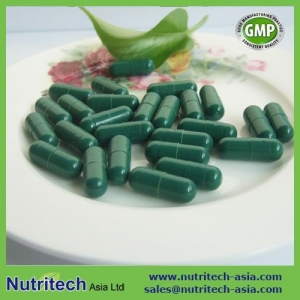 China Natural Spirulina capsule on sale