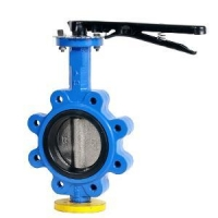 One stem pinless butterfly valve lug type