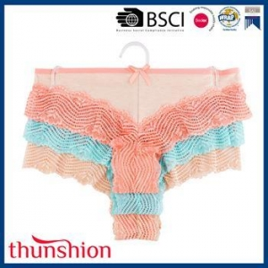 China Colorful Lingerie Sexy Hot Womens Hipster Panties Set on sale