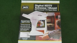 China Electronics OA8200 White24-0250 Jack Digital HDTV Antenna and Mount on sale