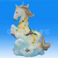 China GF813305-1ZHY animal horse art carved candles on sale