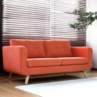 China Fabric Sofas Mid-Century Wooden Legs Fabric Lounge Sofa Set on sale