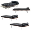 China DayBed Italian Stainless Steel Legs Leather Barcelona Daybed for sale