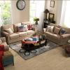 China Linen Sofas Curved Armrest Living Room Fabric Sofa Set for sale
