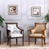 China Leisure Chairs Living Room High Back Rubberwood Leisure Chair for sale