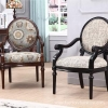 China Leisure Chairs Carved Upholstery Side Armchair For Living Room for sale
