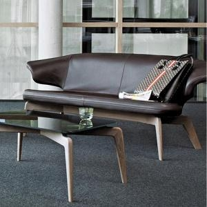 China Leisure Chairs Contemporary Upholstered Bench Fabric Leather Loveseat Sofa on sale