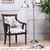 China Leisure Chairs High Wing Back Carved Living Room Armchair for sale