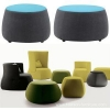 China Ottoman & Stools Pouf Seat Chair Footrest Upholstered Stool Ottoman for sale