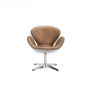 China Dining Chairs Vintage Industrial Spitfire Leather Greenwich Chair on sale