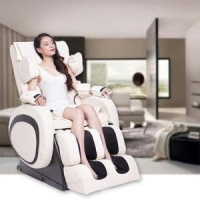 White Zero Gravity Shiatsu Massage Chair Recliner
