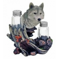 China Wolf Seasons Salt & Pepper Shakers Set #182 HOME DECOR on sale