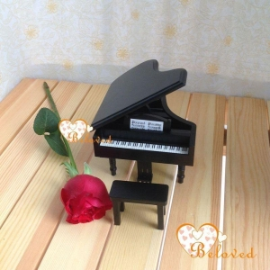 China 1/12 scale dollhouse miniature furniture classical black grand piano & stool on sale