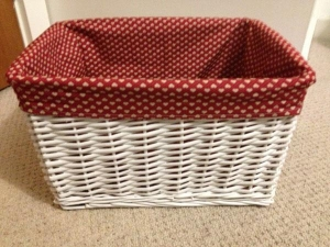 China Decor wicker basket storage red on sale