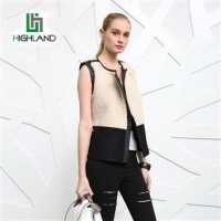 China Wholesale comfortable vest Jacket for women short fur PU Patchwork Vests & Waistcoat on sale