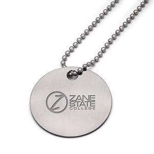 China Custom Imprint Bags Round Stainless Steel Dog Tag (PT318) on sale