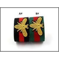 Chunky red leather chevron metal bangle bracelet for women wofish